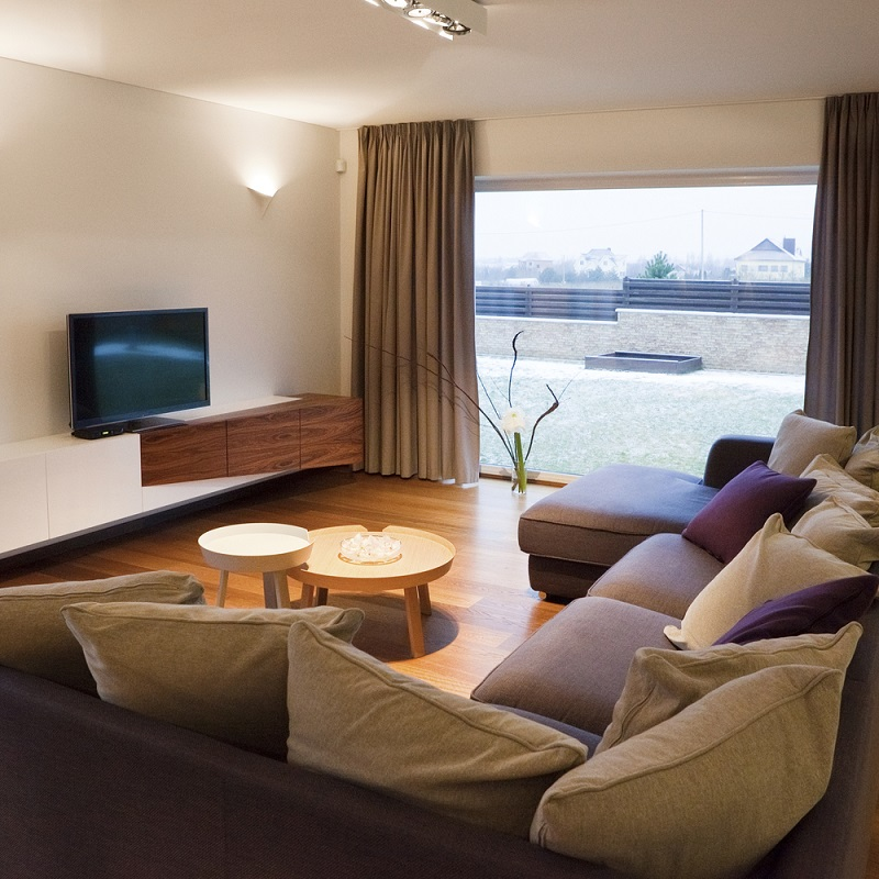 Motorised curtains for living rooms